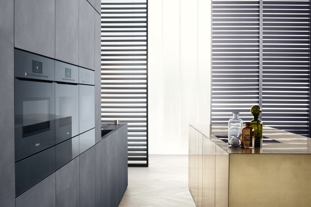 """Miele has replaced handles with """"touch2open"""" technology."""