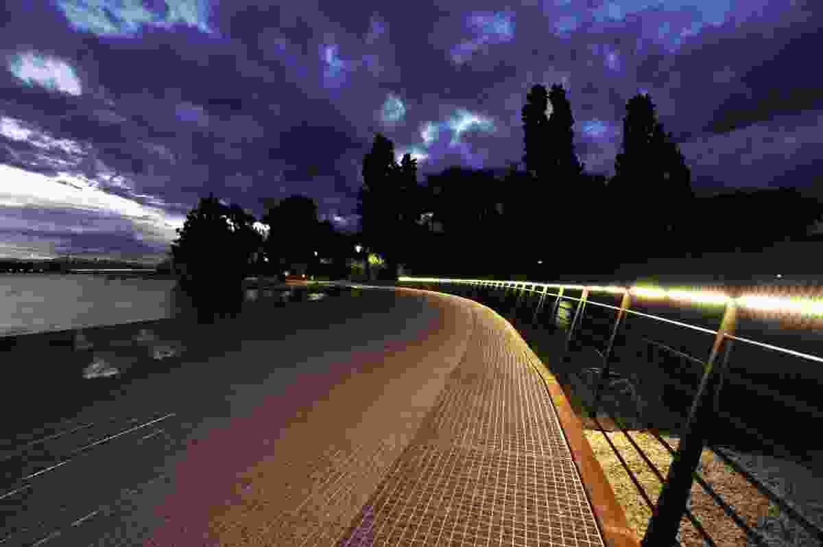 The Nerang Bridge on the R.G. Menzies Walk in Commonwealth Park, Canberra.