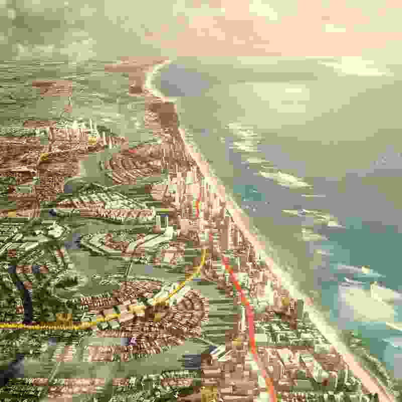GCRT 2031 (Gold Coast Rapid Transit Corridor Study) by Hassell.