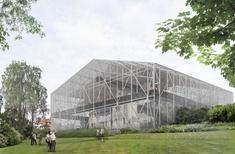 Carmody Groarke designs 'drying shed' for water-damaged Charles Rennie Mackintosh landmark