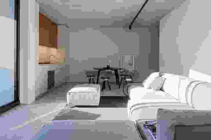 The apartment interiors push the boundaries of what is expected in multiresidential developments in Sydney. Artwork: David Band, Untitled No. 1 (in collaboration with Fraser Taylor) , 2007.