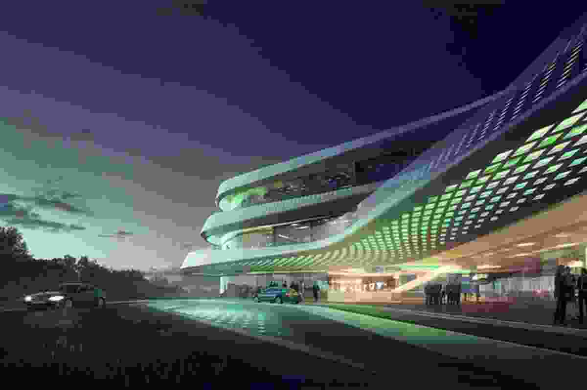 LAVA's proposal for the headquarters of the Green Climate Fund in Bonn, Germany.