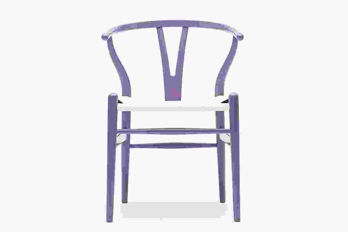 Limited edition Wishbone chair in shades of purple.