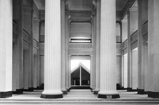 A view of the Auckland War Memorial Museum towards the Māori court in 1929.