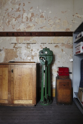 Relics of the past: an ancillary room off the Flinders Street Station Ballroom.