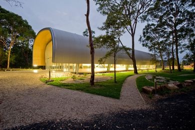 Milson Island Indoor Sports Stadium by Allen Jack + Cottier Architects.