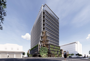 The tower at 458 Wickham Street, Fortitude Valley, designed by Rothelowman.