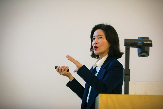 Jungyoon Kim, one of the founding directors of South Korean practice Parkkim presented a keynote lecture.