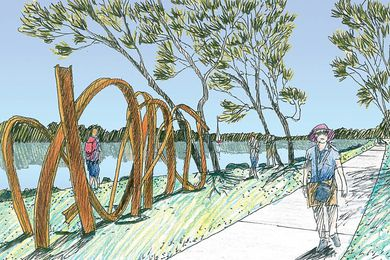 Clarence River Way masterplan by Clouston Associates.
