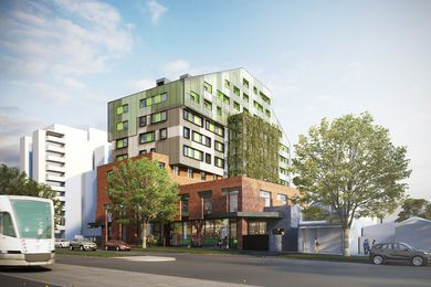 The VincentCare Homeless Resource Centre and Housing Project in Melbourne, designed by MGS Architects.