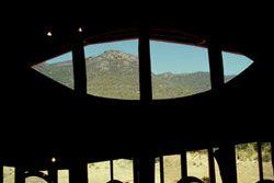 window at Brambuk Living Cultural Centre
