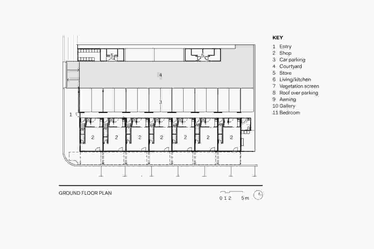 The Hub on Echlin first floor plans.