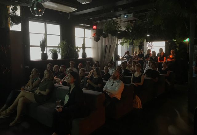 The audience at Flex.