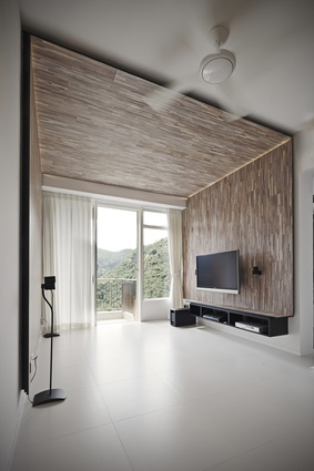 Living room of Apartment-26D in Hong Kong by MODO.
