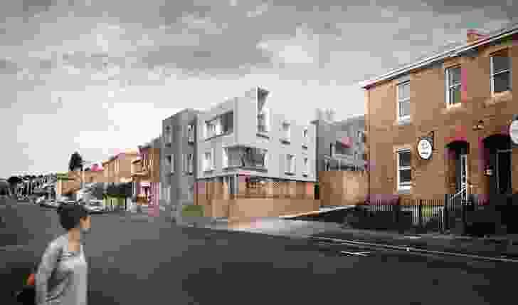 An affordable housing development on Goulburn Street in Hobart by Cumulus Studio.