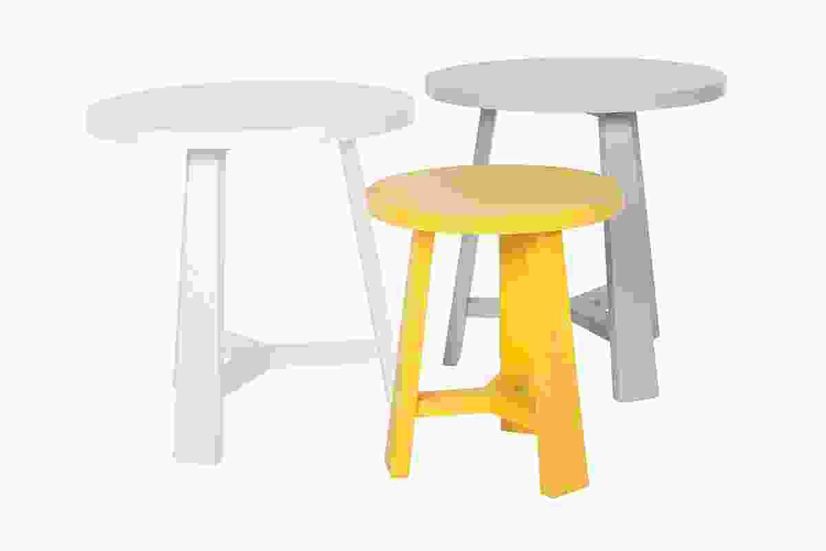 Tripod side tables.