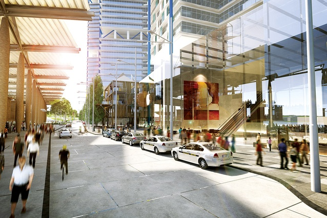 Globe Street from the preferred scheme by Lend Lease with Rogers Stirk Harbour + Partners.
