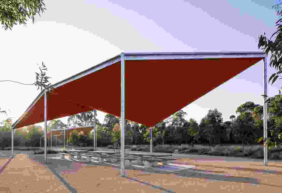 Bungarribee Parklands Shelters by Stanic Harding Architects with Paramatta Park and Western Sydney Parklands Trusts.