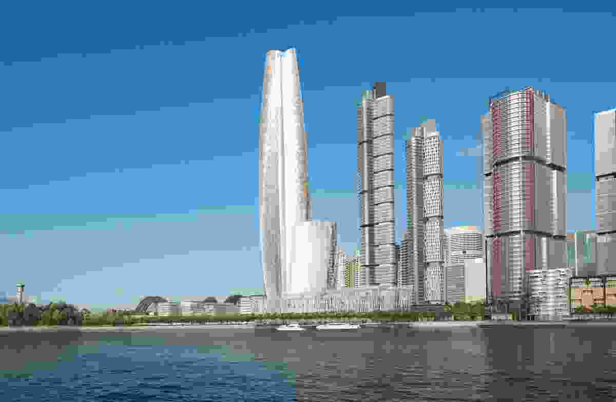 Proposed Crown Resorts tower at Barangaroo by Wilkinson Eyre.