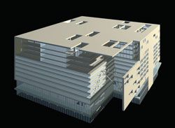 Buro and Holt's design for the 14-storey Moonbeam building in Beijing.