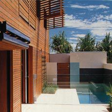 The private court and plunge pool.Image: Brett Boardman