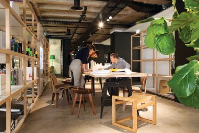 "Meeting and work spaces are open to encourage ""instant immersion."""