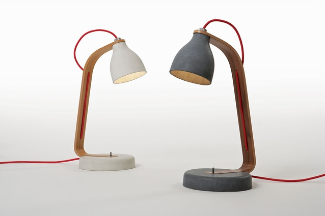 Heavy desk lamps.
