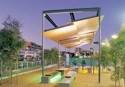 The parkland provides public space for community activities, picnics and play.