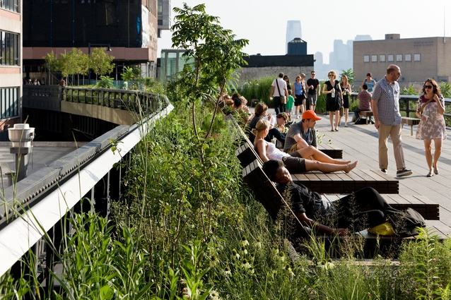 Daybeds in the park offer a rare opportunity for Manhattanites to lounge in the sun.