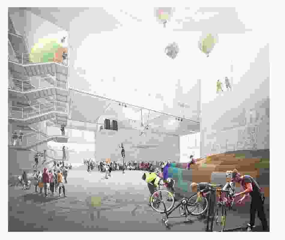 Finalist: SMAR Architecture Studio. The design will include an internal 'street' that can be used all year round in Helsinki.