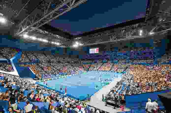 The venue seats 15,500 for concerts and slightly fewer for sporting events.