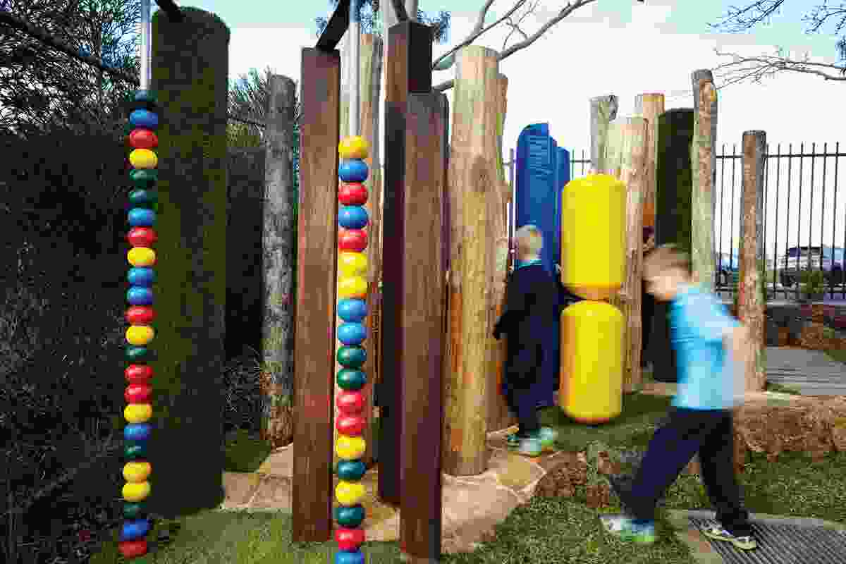 The sensory courtyard at Marnebek School encourages students with intellectual disabilities opportunities