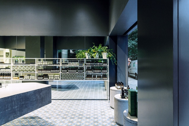 For its first Brazilian store, which opened in 2015, Aesop worked with architect Paulo Mendes da Rocha and Martin Corullon of Metro Arquitetos Associados.