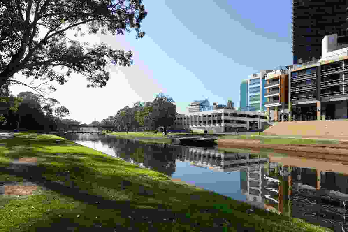 View of the site of the proposed Powerhouse Museum Precinct in Parramatta.