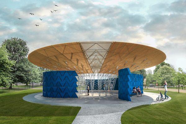 The proposed 2017 Serpentine Pavilion designed by Diébédo Francis Kéré.