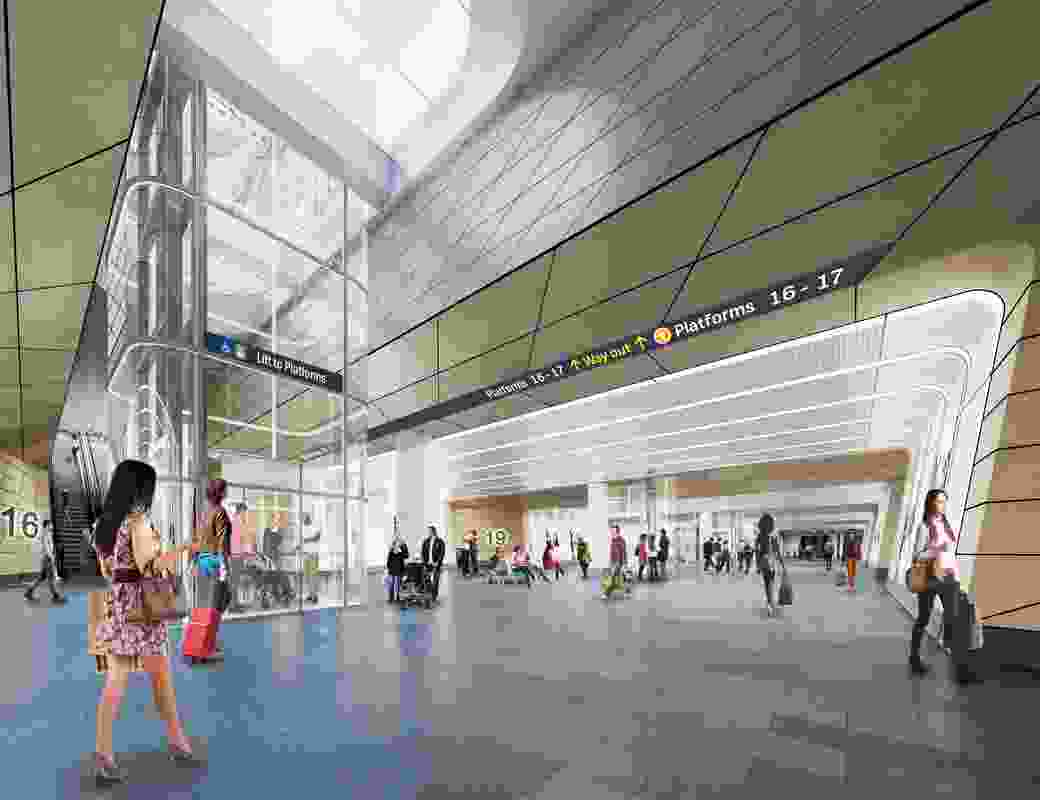 The redevelopment of Sydney Central Station by Woods Bagot and John McAslan and Partners.