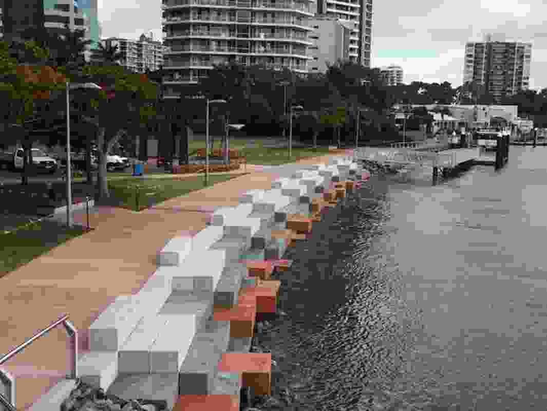 Surfers Riverside Edge Treatment Project by GHD Woodhead and Gold Coast Waterways Authority.