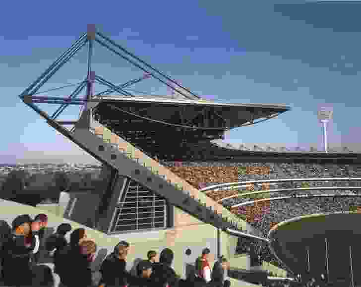 The Great Southern Stand at the MCG designed by Daryl Jackson in association with Tompkins Shaw and Evans, 1992.