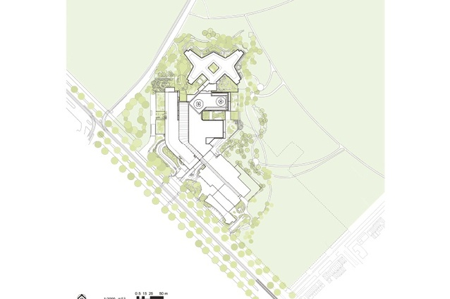 Site plan for The Royal Children's Hospital.
