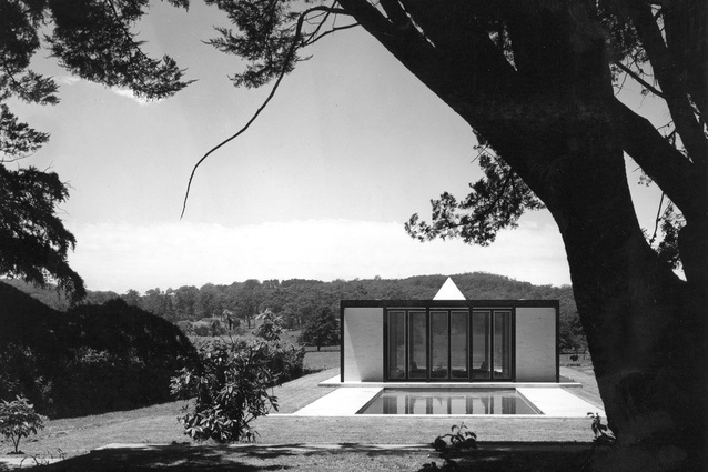 Fairfax Pavilion, Bowral, New South Wales, designed by Guilford Bell in 1969.