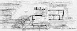 Drawings of the Roe House, 1963, by