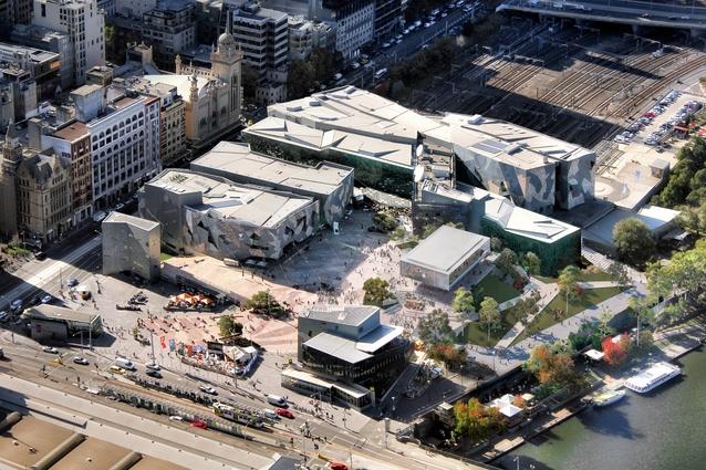 federation square apple store redesigned architectureau