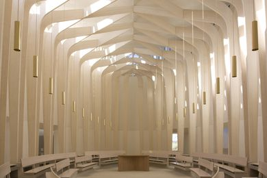 Bishop Edward King Chapel in Oxfordshire, England by Níall McLaughlin Architects.