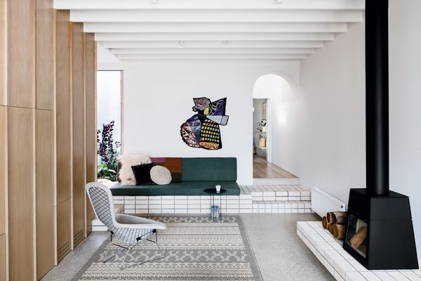 Storybook House inspires a childlike delight with its playful details, including secret compartments and an arched entry to the living room. Artwork: Sally Smart.