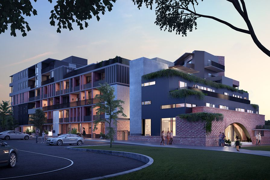 The proposed Hawke and King apartments by Six Degrees.
