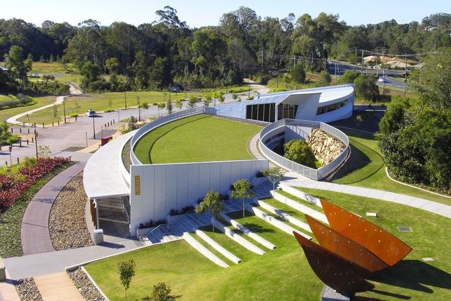 Cooroy Library by Brewster Hjorth Architects.