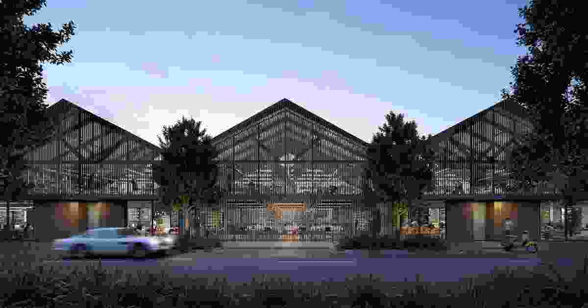 Proposed design studios in the Collins Wharf development.