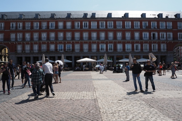 Plaza Mayor (the main square) in Madrid.