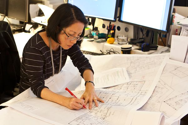 Women's participation in architecture lag behind accountants, general practitioners and solicitors.