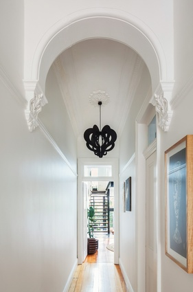 """The back of the house is connected to the front through """"glimpse connections."""""""